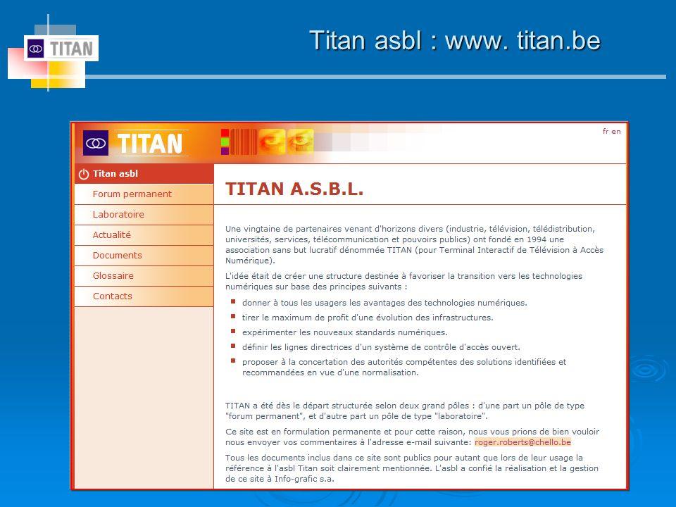 Titan asbl : www. titan.be