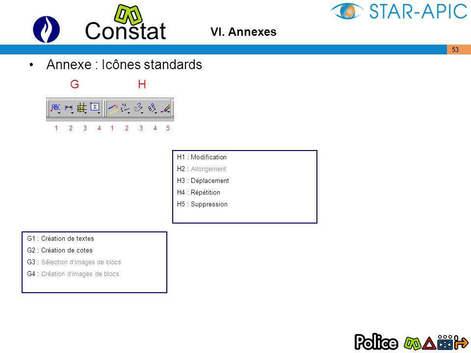 Annexe : Icônes standards