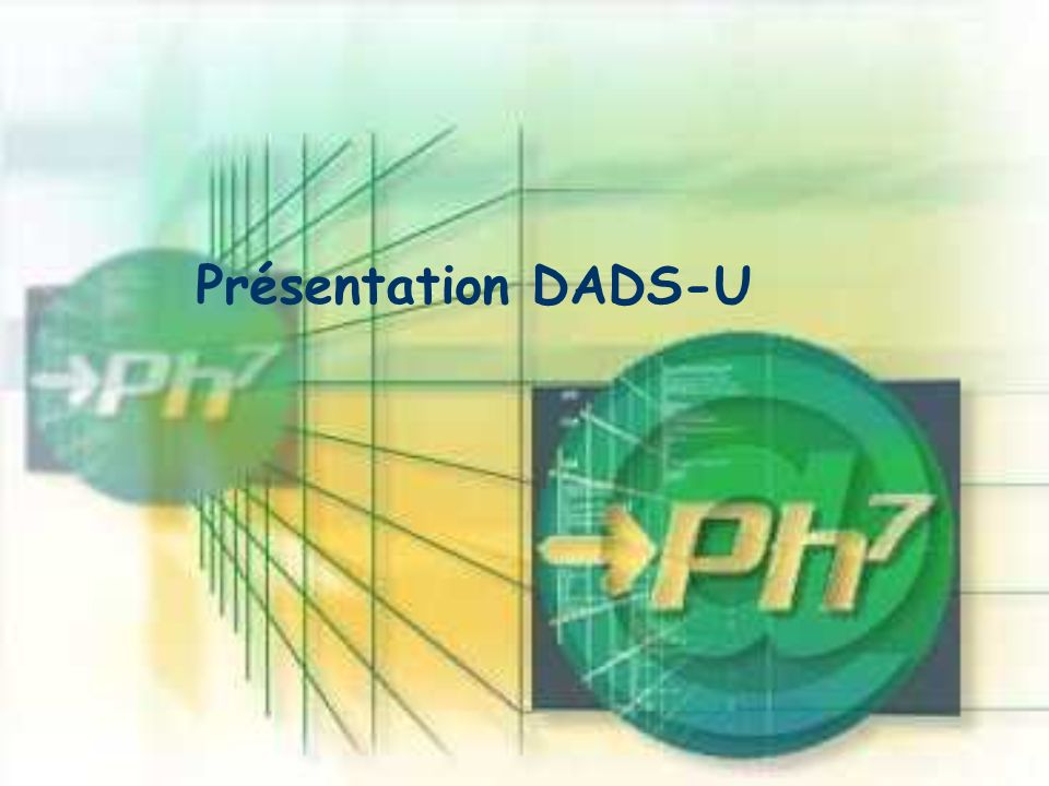 Présentation DADS-U Ph7 est une grosse calculette.