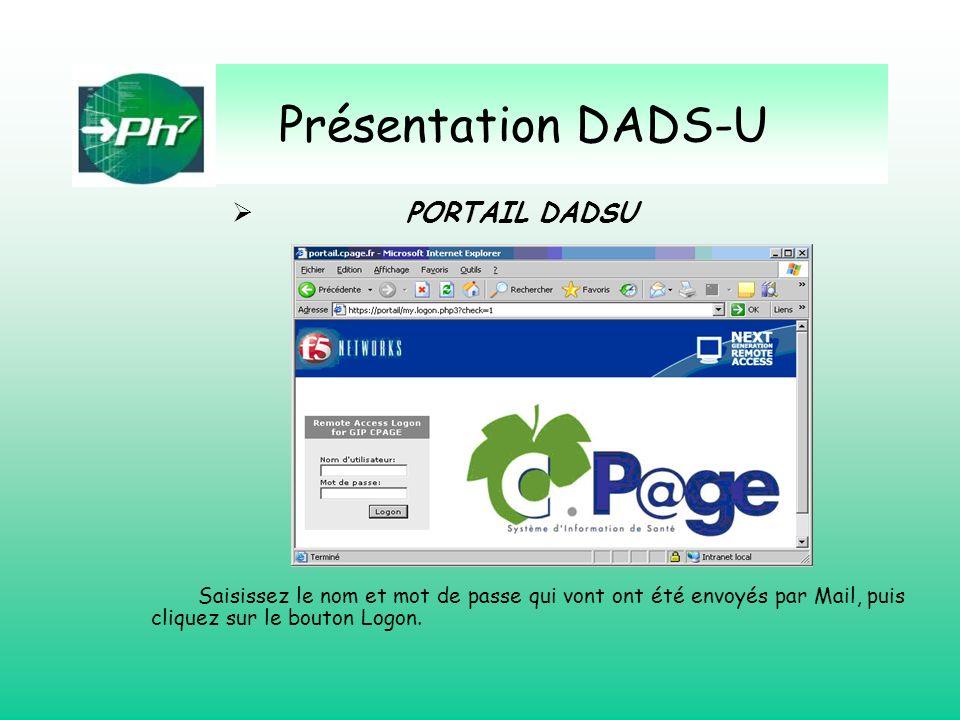 Présentation DADS-U PORTAIL DADSU