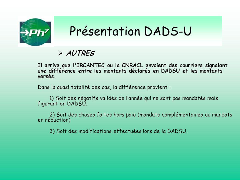 Présentation DADS-U AUTRES