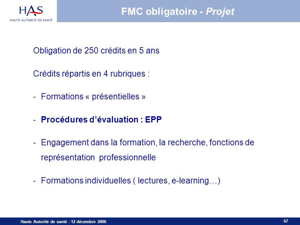 FMC obligatoire - Projet