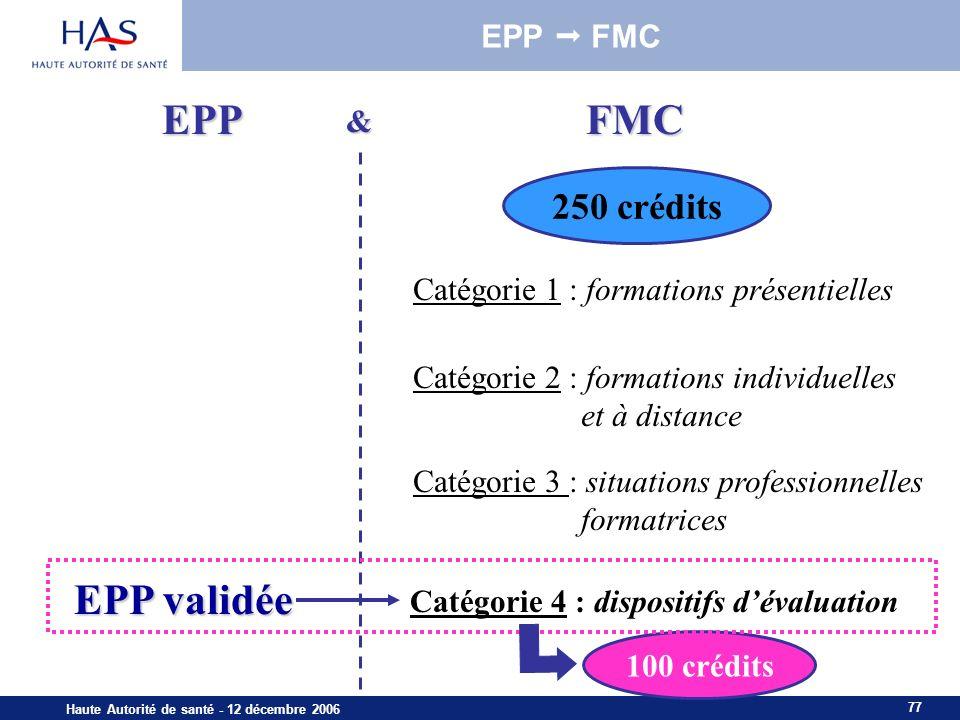 EPP FMC EPP validée 250 crédits EPP  FMC &