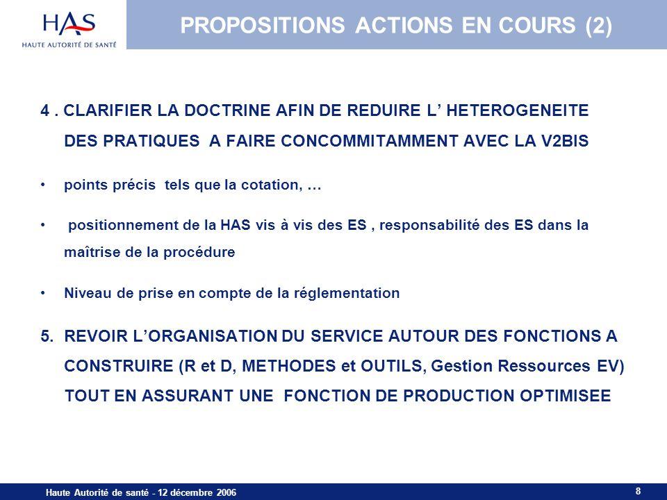 PROPOSITIONS ACTIONS EN COURS (2)
