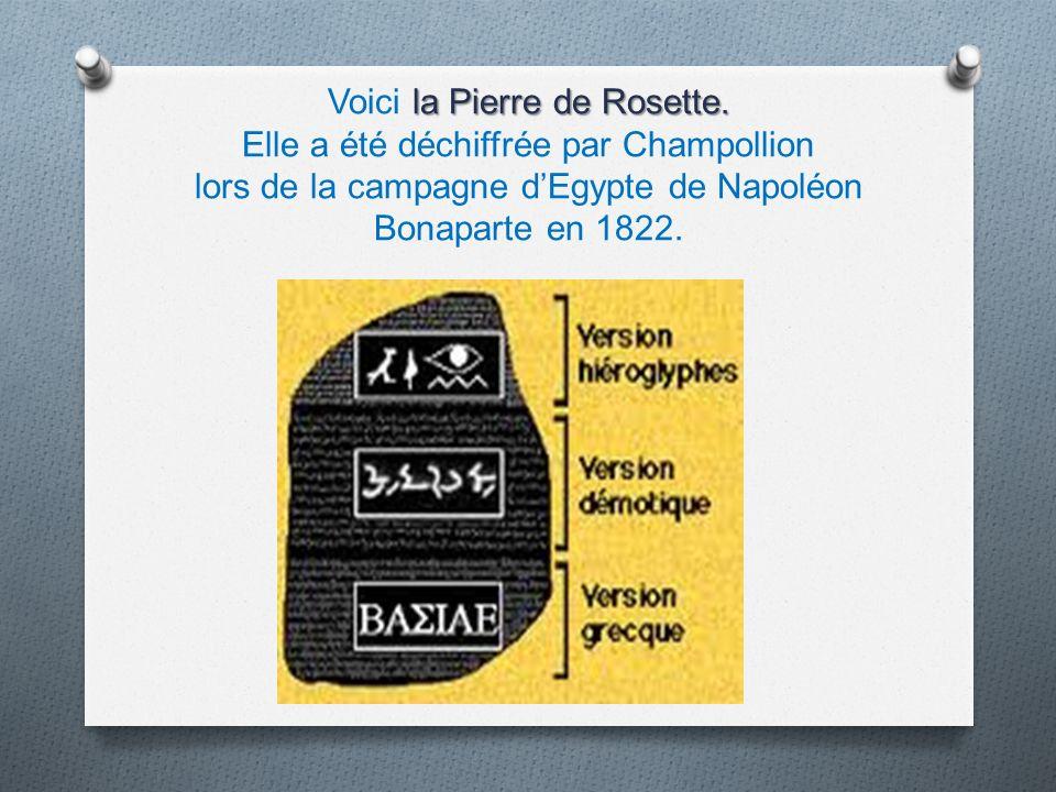 Voici la Pierre de Rosette