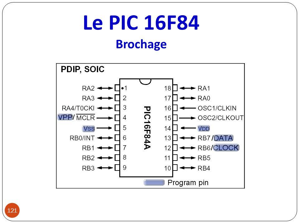 Le PIC 16F84 Brochage