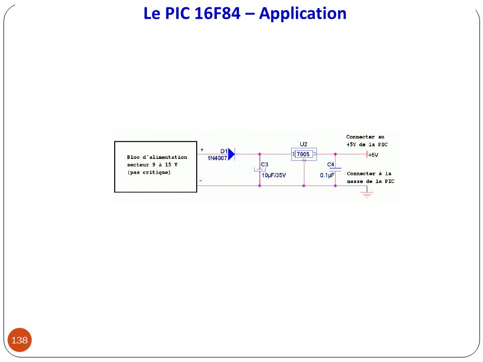 Le PIC 16F84 – Application