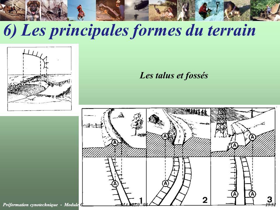 6) Les principales formes du terrain