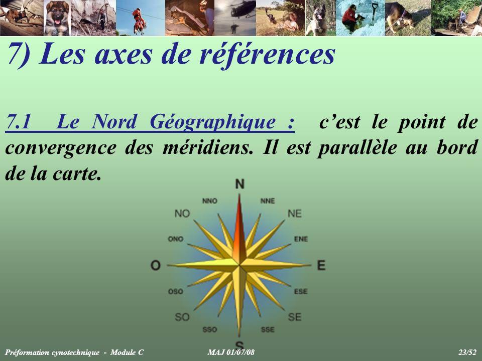 7) Les axes de références