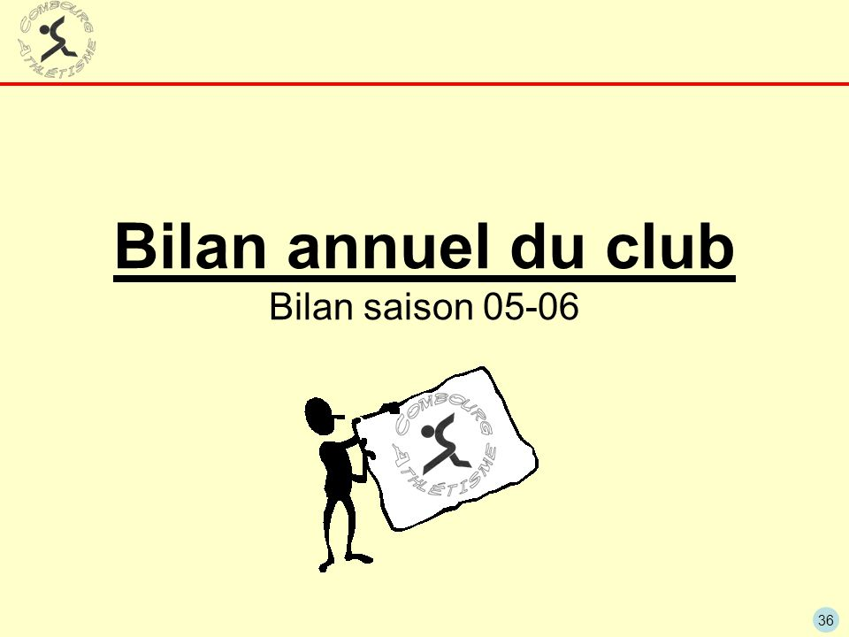 Bilan annuel du club Bilan saison 05-06