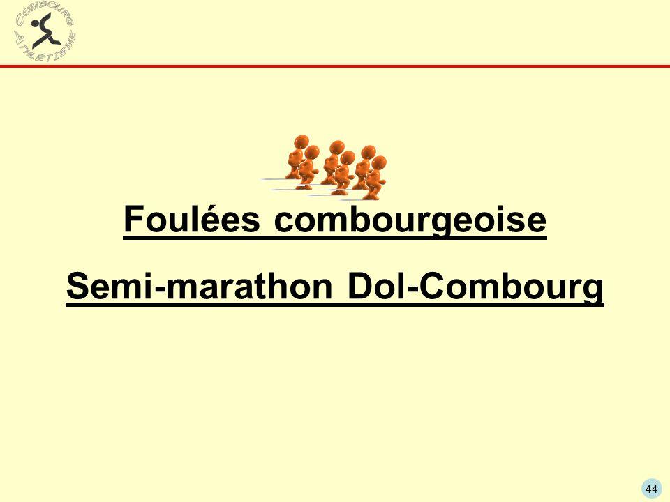 Foulées combourgeoise Semi-marathon Dol-Combourg