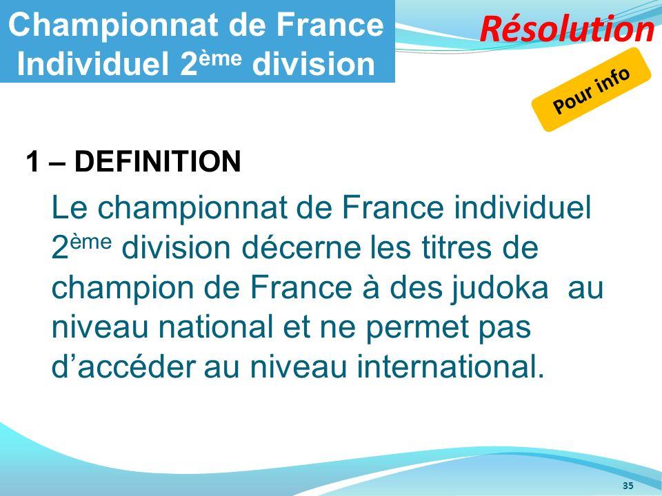 Championnat de France Individuel 2ème division