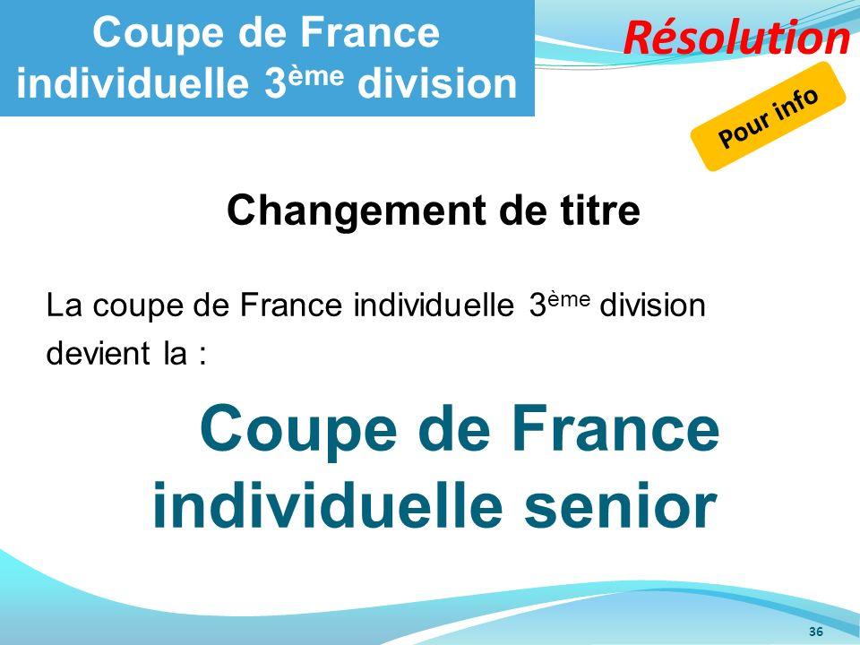 Coupe de France individuelle 3ème division