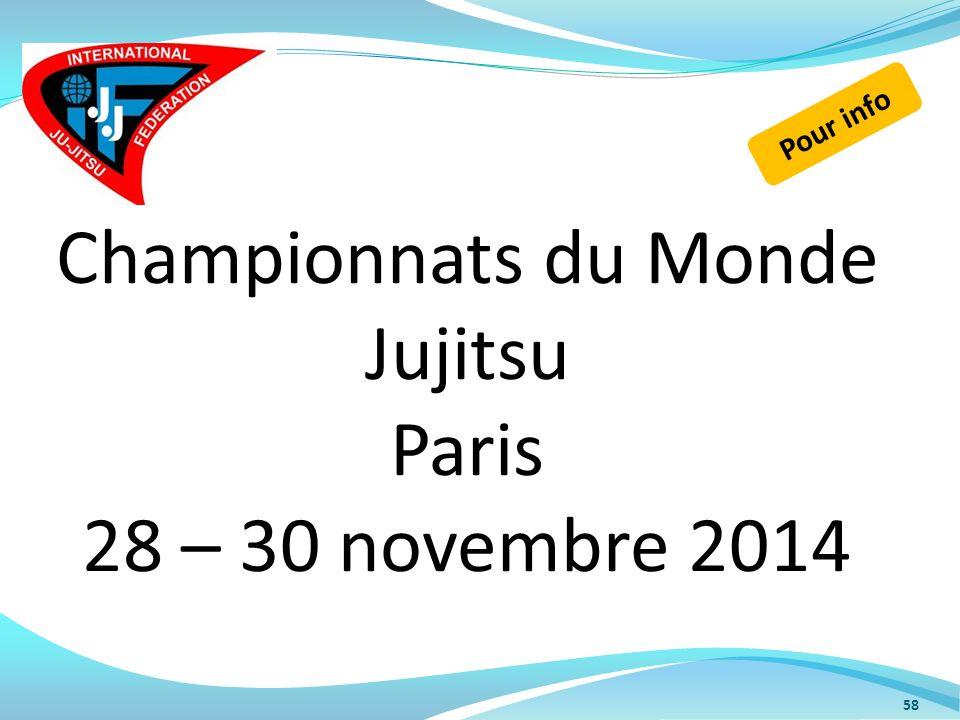 Championnats du Monde Jujitsu