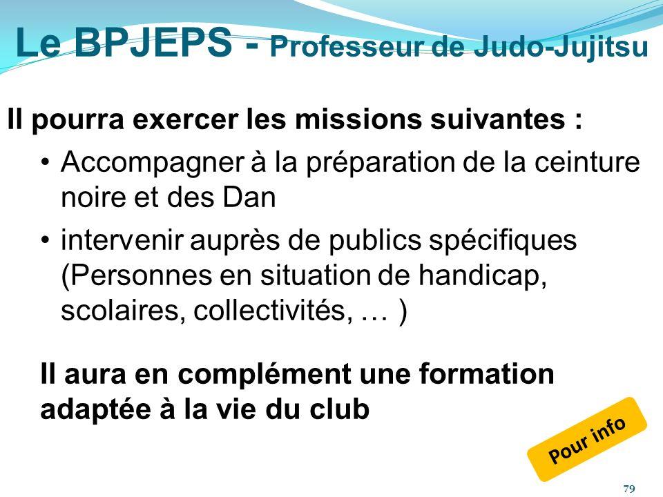 Le BPJEPS - Professeur de Judo-Jujitsu