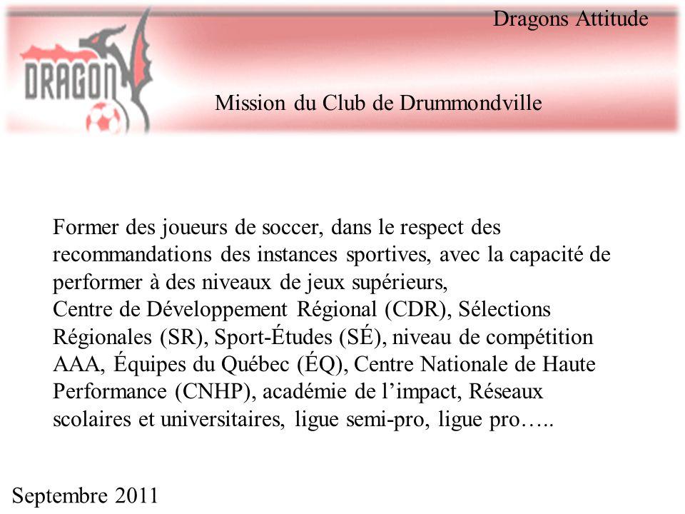 Dragons Attitude Mission du Club de Drummondville.