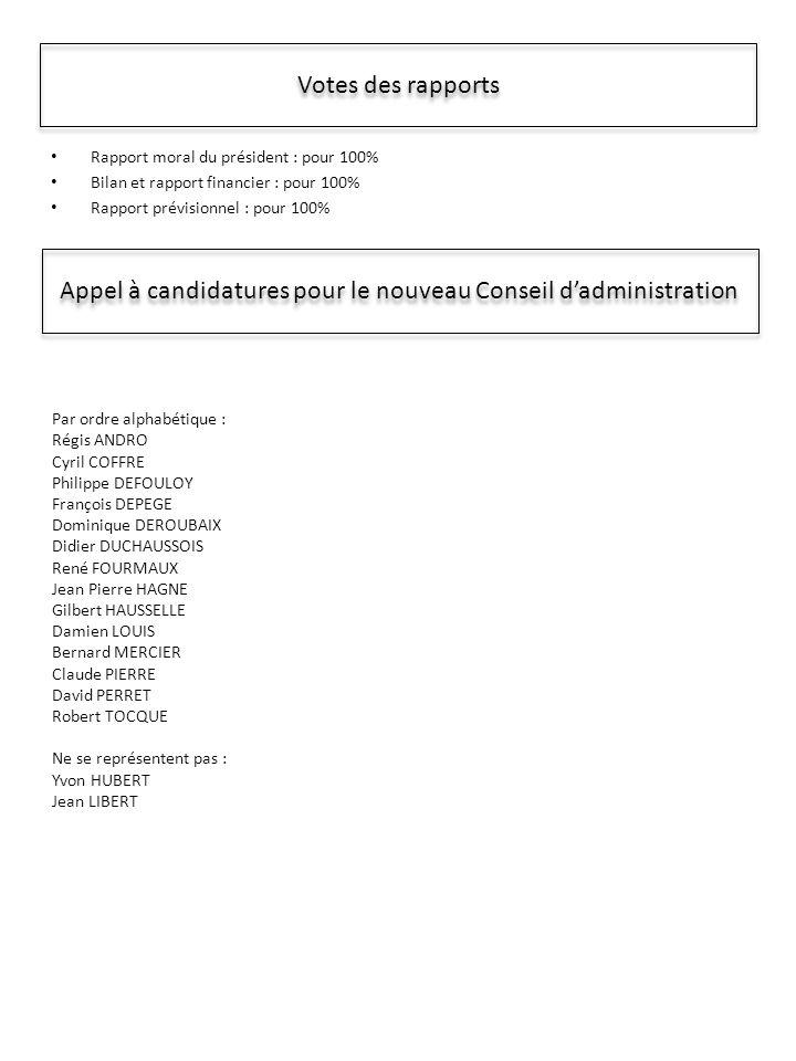Appel à candidatures pour le nouveau Conseil d'administration