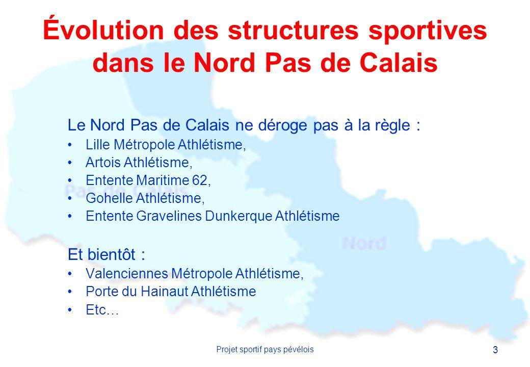 Évolution des structures sportives dans le Nord Pas de Calais