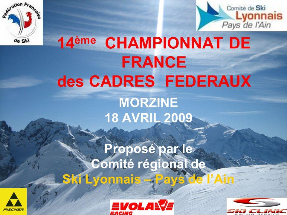 14ème CHAMPIONNAT DE FRANCE des CADRES FEDERAUX