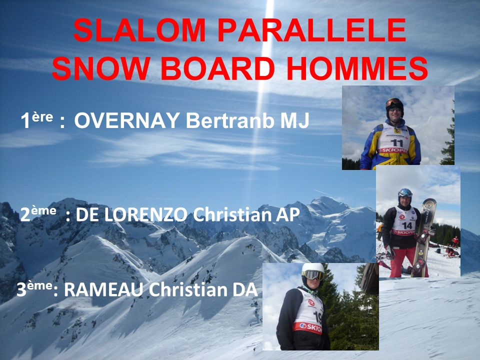 SLALOM PARALLELE SNOW BOARD HOMMES