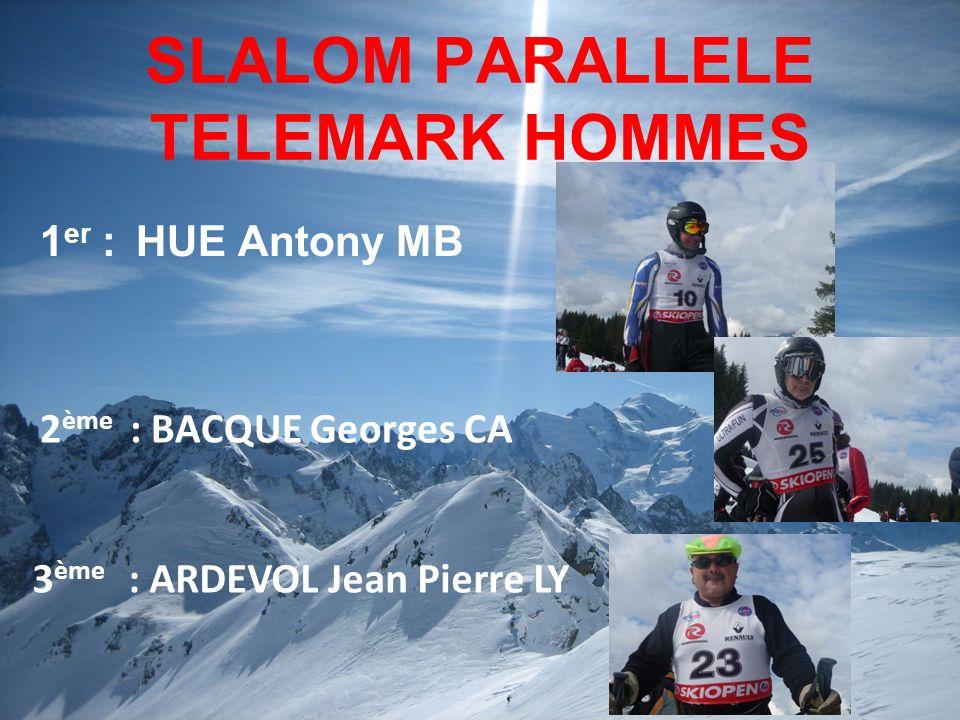 SLALOM PARALLELE TELEMARK HOMMES