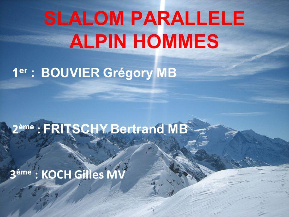 SLALOM PARALLELE ALPIN HOMMES