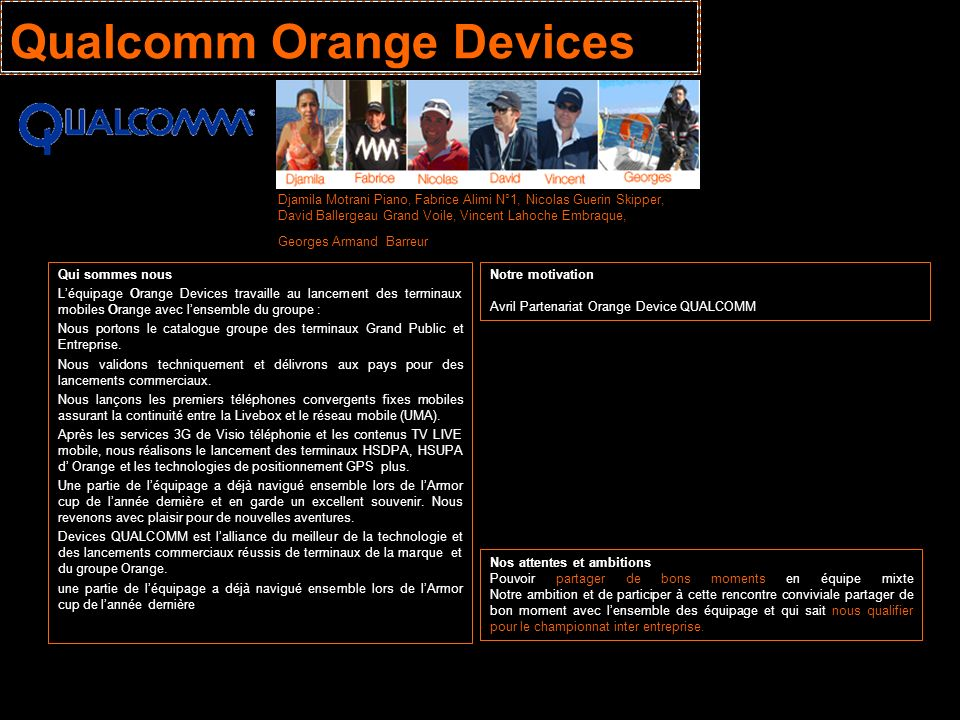 Qualcomm Orange Devices