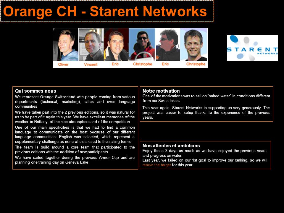 Orange CH - Starent Networks