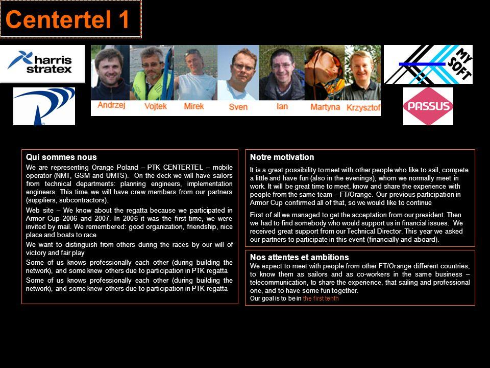 Centertel 1 Qui sommes nous Notre motivation Nos attentes et ambitions