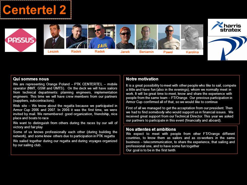 Centertel 2 Qui sommes nous Notre motivation Nos attentes et ambitions