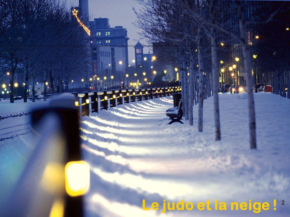 Le judo et la neige !