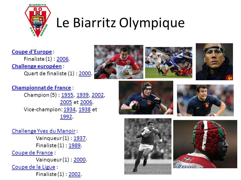 Le Biarritz Olympique Coupe d Europe : Finaliste (1) : 2006.