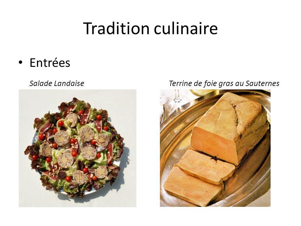 Tradition culinaire Entrées
