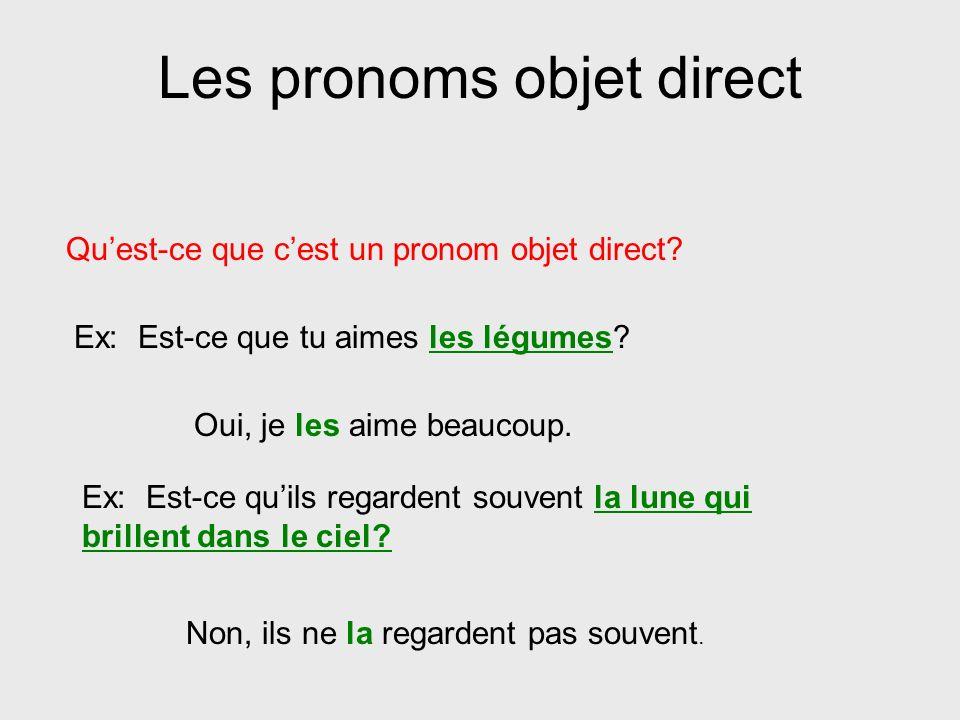 Les pronoms objet direct