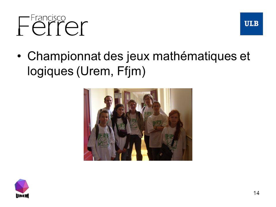 Championnat des jeux mathématiques et logiques (Urem, Ffjm)