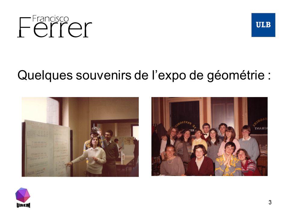Quelques souvenirs de l'expo de géométrie :