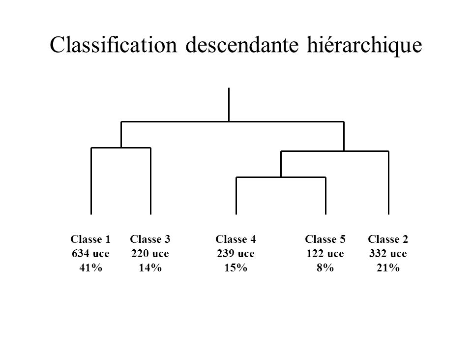 Classification descendante hiérarchique