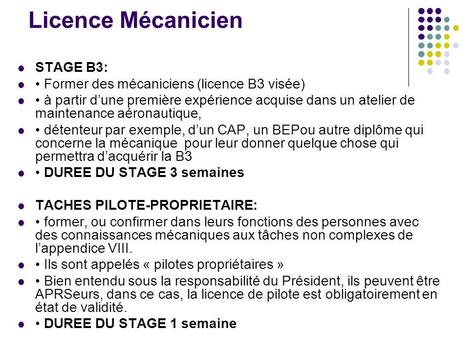 Licence Mécanicien STAGE B3: