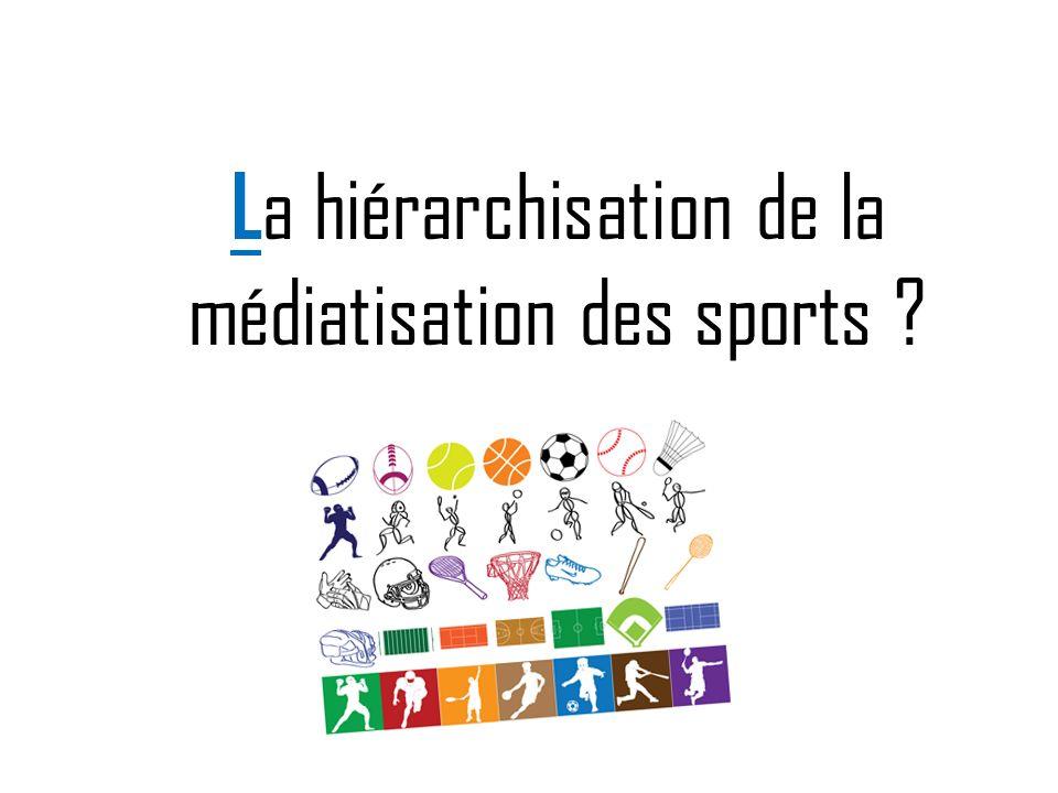 La hiérarchisation de la médiatisation des sports