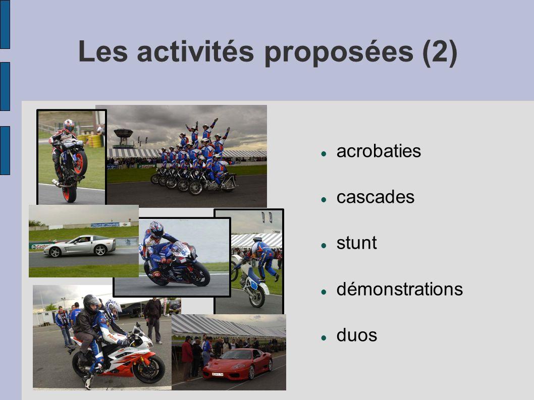 Les activités proposées (2)