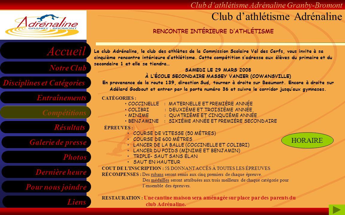 Club d'athlétisme Adrénaline