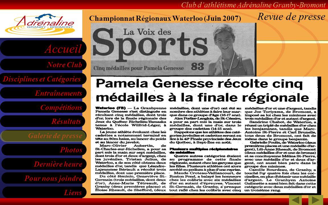 Championnat Régionaux Waterloo (Juin 2007)