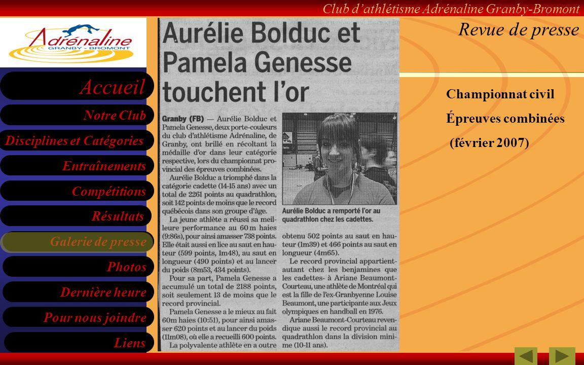 Revue de presse Championnat civil Épreuves combinées (février 2007)