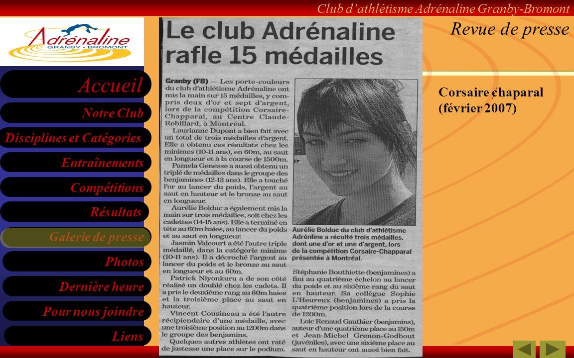 Revue de presse Corsaire ¢haparal (février 2007)