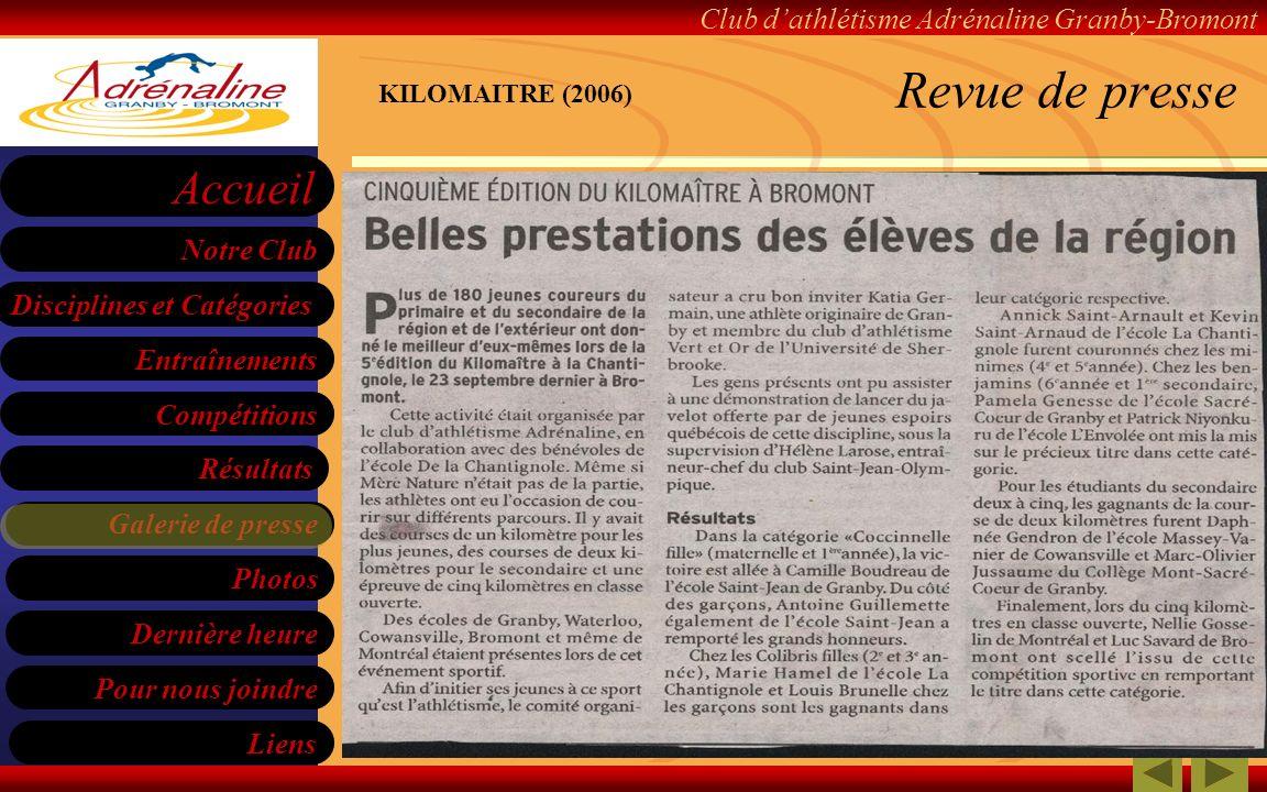 Revue de presse KILOMAITRE (2006)