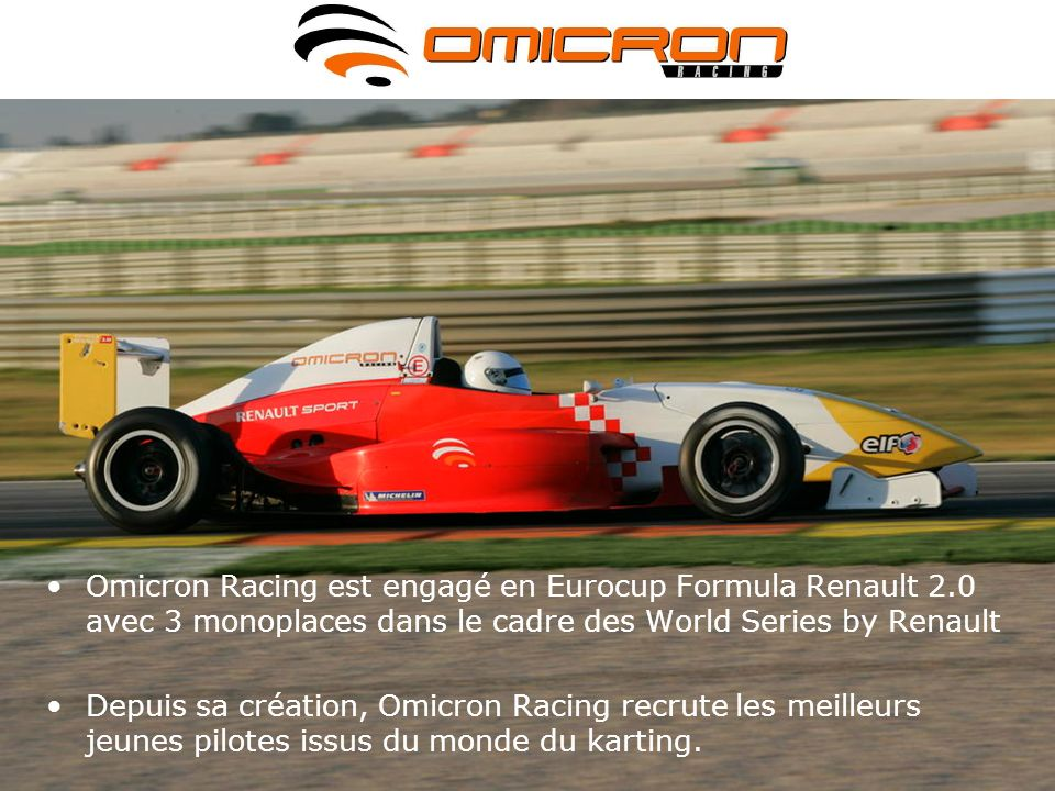 Omicron Racing est engagé en Eurocup Formula Renault 2
