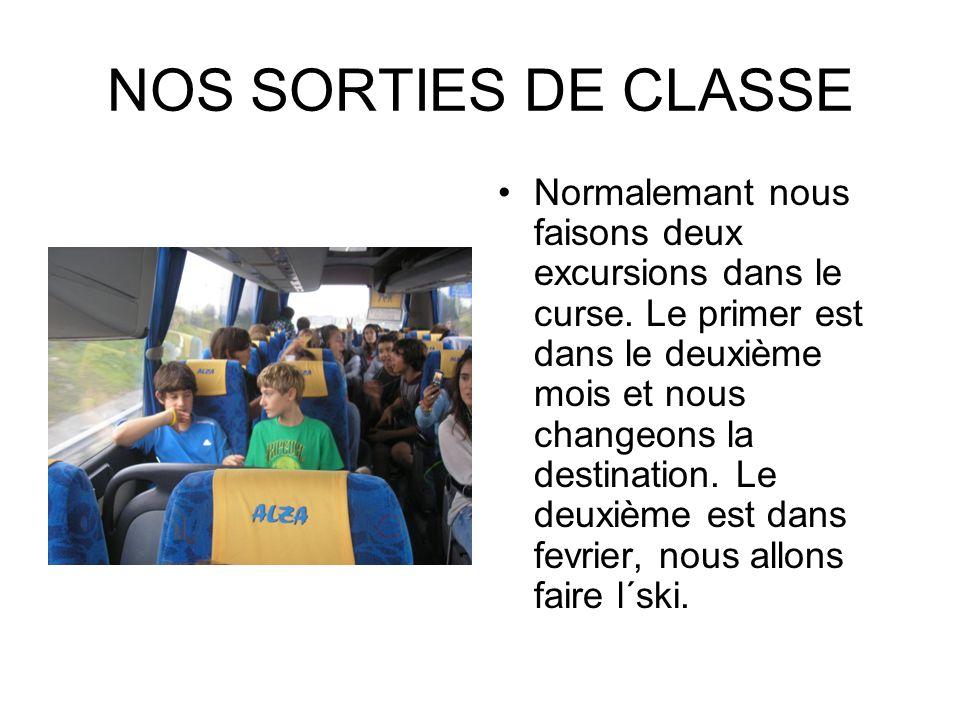NOS SORTIES DE CLASSE