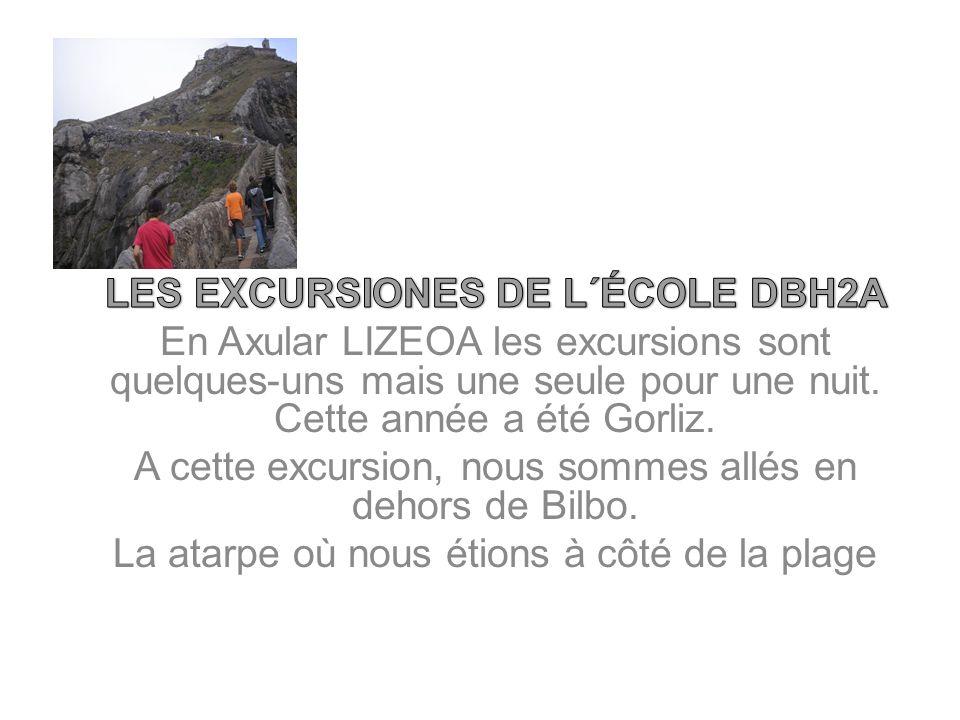 LES EXCURSIONES DE L´ÉCOLE DBH2A