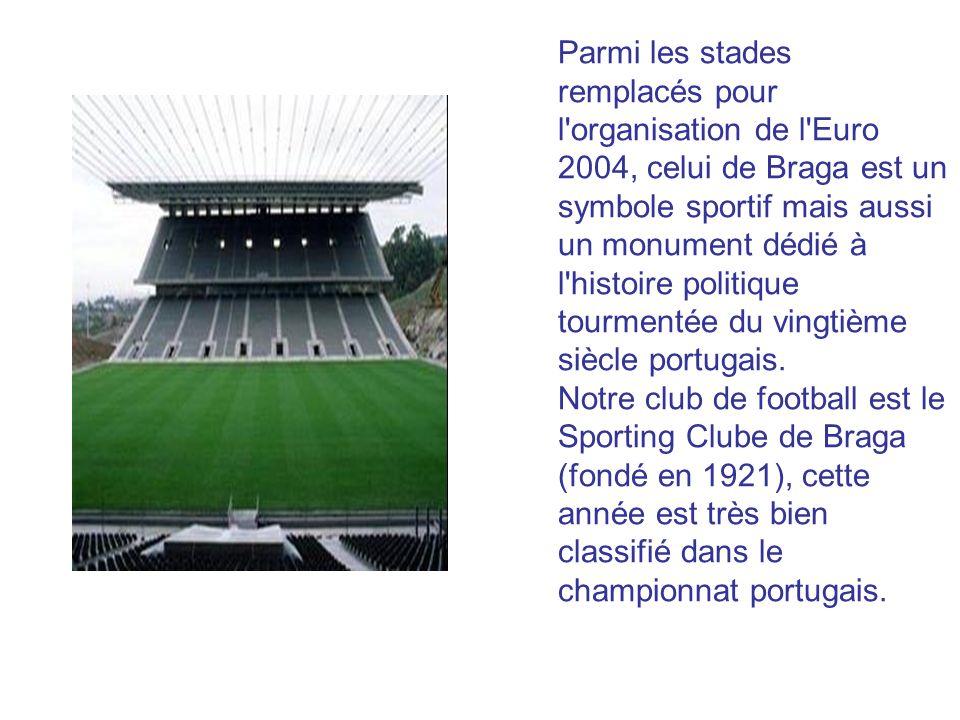 Parmi les stades remplacés pour l organisation de l Euro 2004, celui de Braga est un symbole sportif mais aussi un monument dédié à l histoire politique tourmentée du vingtième siècle portugais.