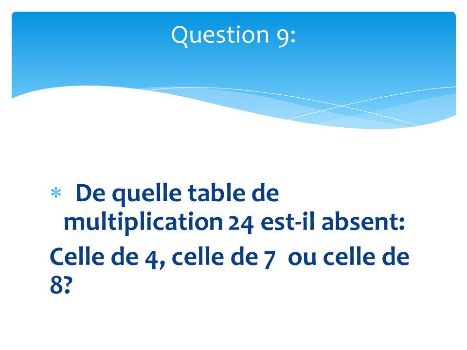 De quelle table de multiplication 24 est-il absent: